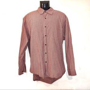 J. Crew Men's Plaid Button Button Down Shirt-L